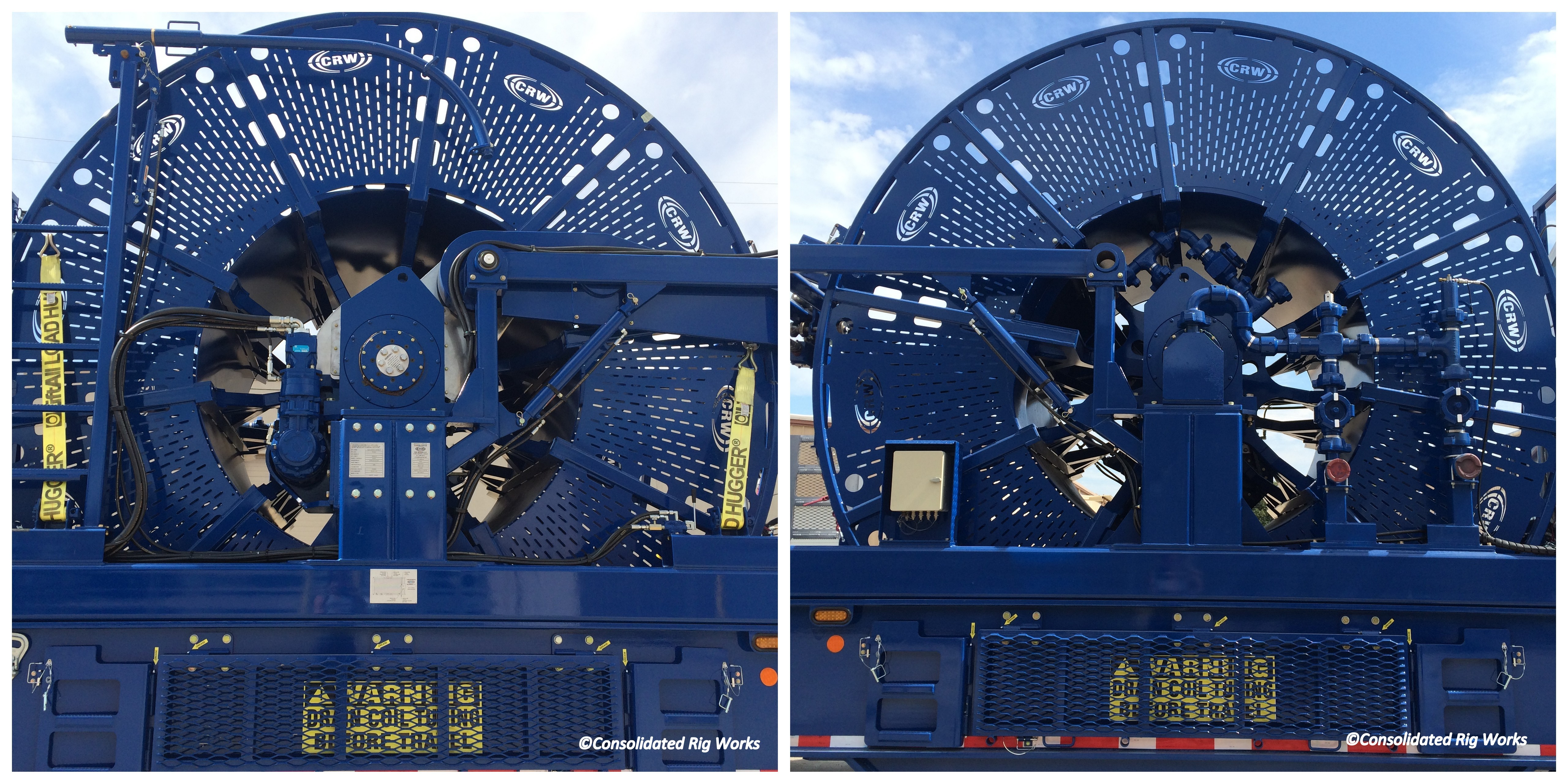 Coil Tubing Units Reel : Tubing reels consolidated rig works lp